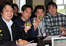 photo of Japanese clients at DD dinner